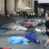 Flashmob Die In Protest Bourke St Mall Melbourne