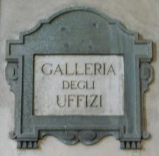 Galleria Degli Uffizi Plaque
