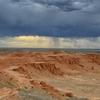 Gobi Desert Flaming Cliffs In Mongolia