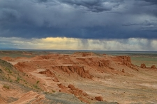 Gobi Desert Flaming Cliffs In Mongolia