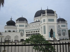 Grand Medan Mosque View In Sumatra ID