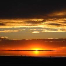 Sunset Of Great Salt Lake