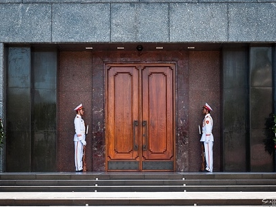 Guarding The Ho Chi Minh Mausoleum Entrance Door