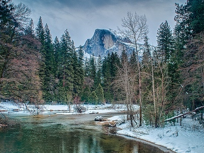Half Dome & Yosemite In Winter