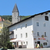 Hallein, Street With Churchtower