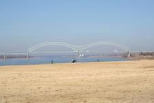 Hernando De Soto Bridge From The Shore