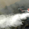 Helicopter Sprays Santiago Fire In Foothill