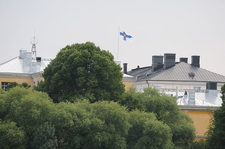 Helsinki With Flag