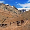 Hikers In Andes - Mendoza Argentina