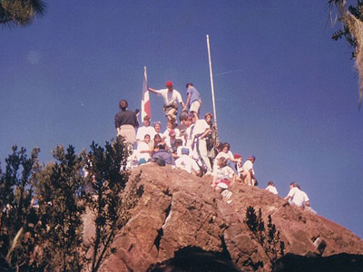 Hikers Piling Up At The Summit Of Pico Duarte