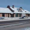 Historic Detroit Lakes Amtrak Depot In Winter