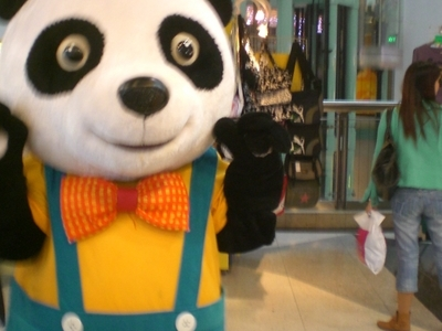 Panda Mascot At The Mall