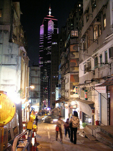 Hong Kong Night Street View