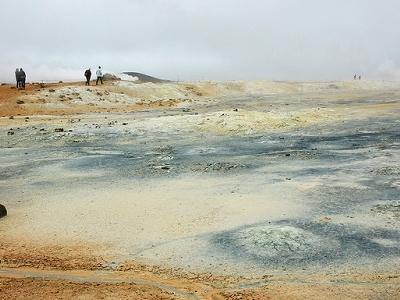 Hverir Geothermal Area In Iceland