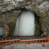 Ice Lingam At Amarnath Cave