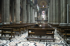 Interior View Of The Milan Cathedral