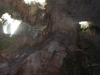 Inside Hinagdanan Cave