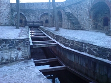 Inside Olavinlinna Castle At Savonlinna