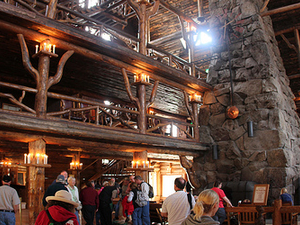 Inside Old Faithful Inn