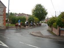 Jockeys Taking Horses To The Gallops Lambourn