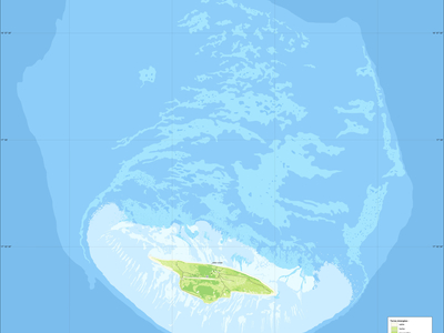 Juan De  Nova  Island And Reef Land Cover Map  Fr