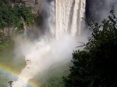 Kaieteur Falls In Rainy Season
