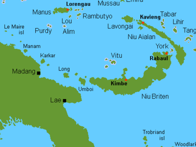 Location Map, Wuvulu Island