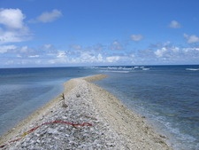 Dry Strip Of Land On Kingman Reef