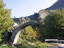 Konitsa Old Bridge Over Aoos River