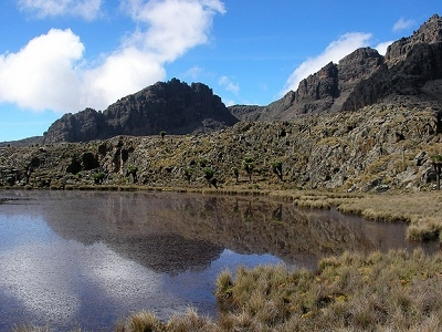 Lake Inside Mount Kenya National Park