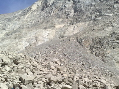 Closeup Of The Landslide