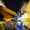 Larnaca Old Streets With Restaurants By Night Republic Of Cypr