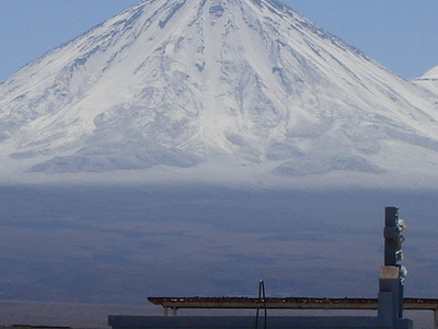 Licancabur With Snow