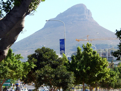 Lion's Head Seen From Cape Town
