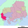 Location Of Hatsukaichi In Hiroshima