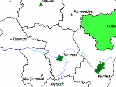 Location Of Utena County