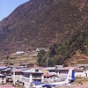 Looking Across The Township Of Lukla
