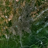 Landsat Satellite Photo Of Almaty