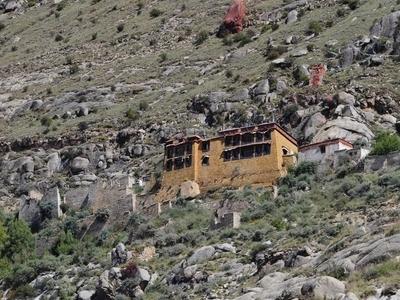 Left A Wider View Of Sera Utse Hermitage. Right Sera Utse Hermit