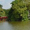 Little Bridge At Hoan Kiem Lake