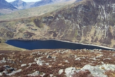 Llyn Cowlyd From Summit Of Creigiau Gleision