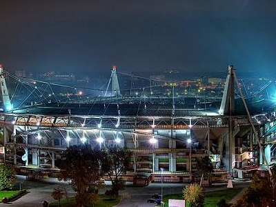 Lokomotiv Stadium At Night
