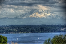 Magnificent Mount Rainier Backdrop WA