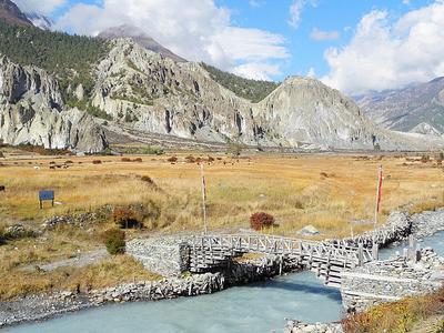 Manang Landscape - Annapurna CA Nepal