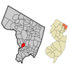 Map Highlighting Lodis Location Within Bergen County. Inset Berg