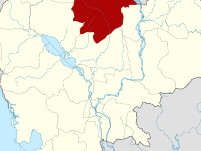 Map Of Cambodia Highlighting Preah Vihear