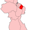 Map Of Guyana Showing Mahaica Berbice Region