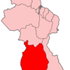 Map Of Guyana Showing Upper Takutu Upper Essequibo Region