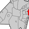 Map Of Long Branch In Monmouth County. Inset Location Of Monmout