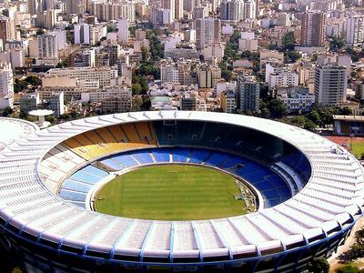 Maracan Stadium In  Rio De  Janeiro